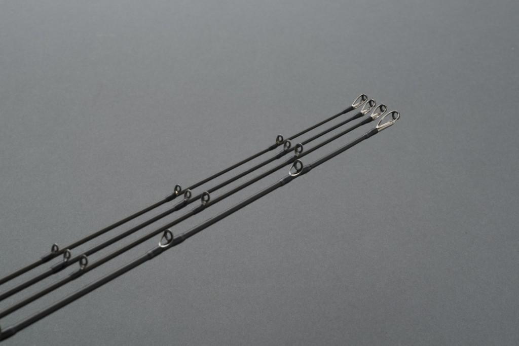 単なる小口径化ではなく、ロッドの特性と用途に合わせてガイドサイズ、セッティングを施した